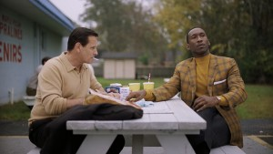 """(L to R) VIGGO MORTENSEN and MAHERSHALA ALI star in Participant Media and DreamWorks Pictures' """"Green Book."""" In his foray into powerfully dramatic work as a feature director, Peter Farrelly helms the film inspired by a true friendship that transcended race, class and the 1962 Mason-Dixon line."""