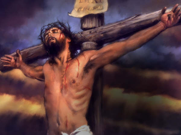 las tres de la tarde a la hora nona muere jesús clavado a