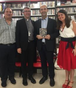Con el bisbe Antoni Vadell i Ferrer