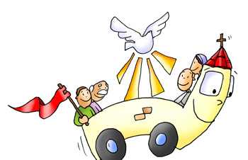 Iglesia con ruedas Pentecostés