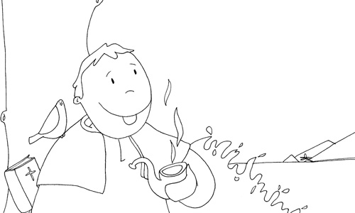Kamiano » ¿Por qué Damián fuma en pipa?