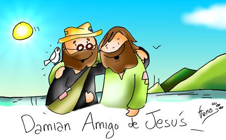 Damián amigo de Jesús en color