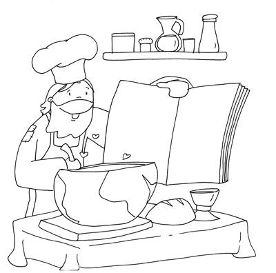 Jesús cocinero en blog