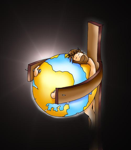 Cristo abrazado al mundo