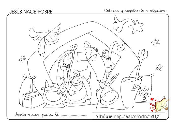 Kamiano » Ficha para colorear en Navidad