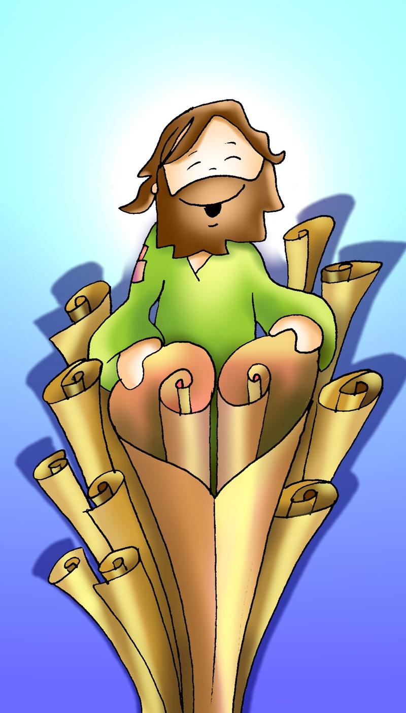 Resultado de imagen para Jesús enrolla  los mismos rollos  de otra manera