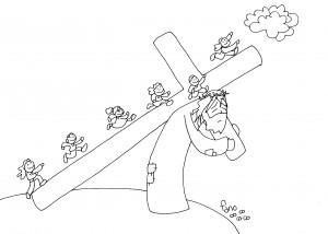 tu cruz nos lleva al cielo bn