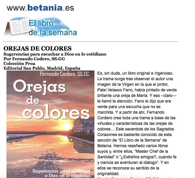 Kamiano » Libro de la semana en www.betania.es