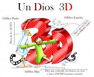 Dios en 3D letras