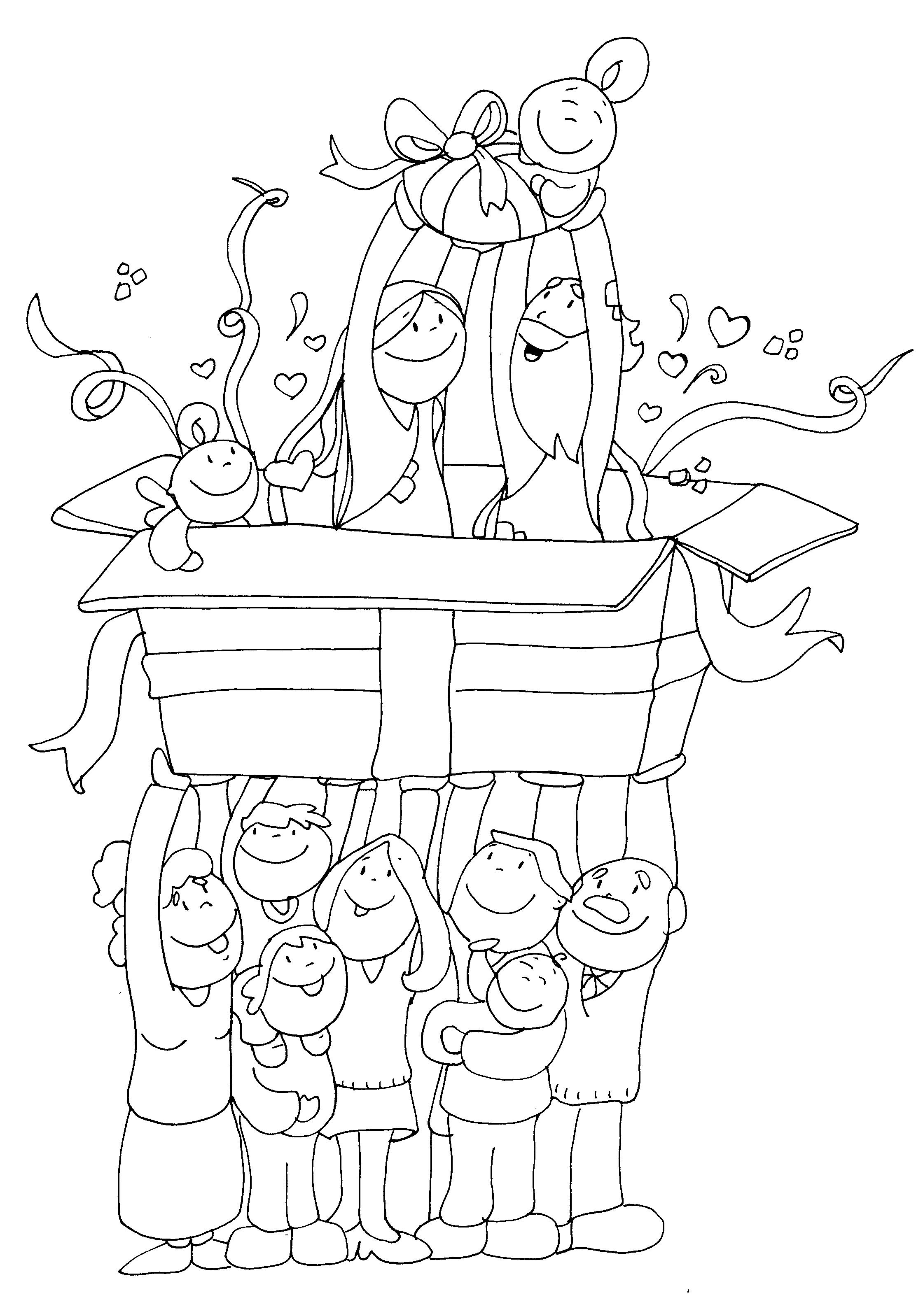 Dibujos De Navidad Con Jesus.Jesus El Mejor Regalo De Navidad