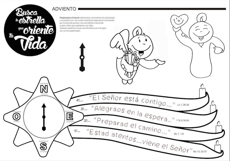 Dibujos Infantiles Para Colorear Del Adviento ~ Ideas ...