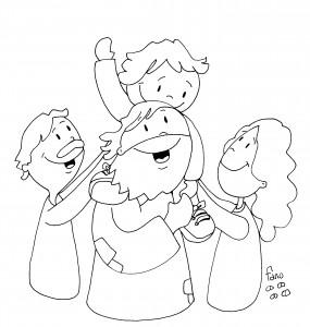 Jesus en la familia bn