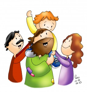 jesus en la familia color