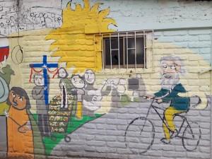 Esteban en bici