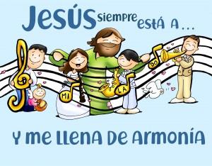 evangelio domingo letra color