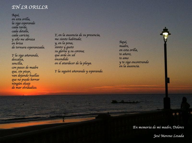 Poema EN LA ORILLA Jose Moreno Losada F