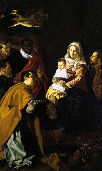 """""""La adoración de los Reyes Magos"""". Diego de Velázquez."""