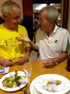 Con Teo, en San Pedro del Pinatar, hace varios veranos