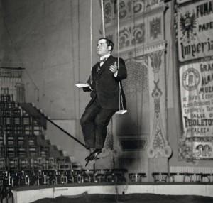 Ramón en 1928 durante un monólogo humorístico