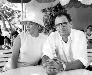 Con Arthur Miller, su tercer marido